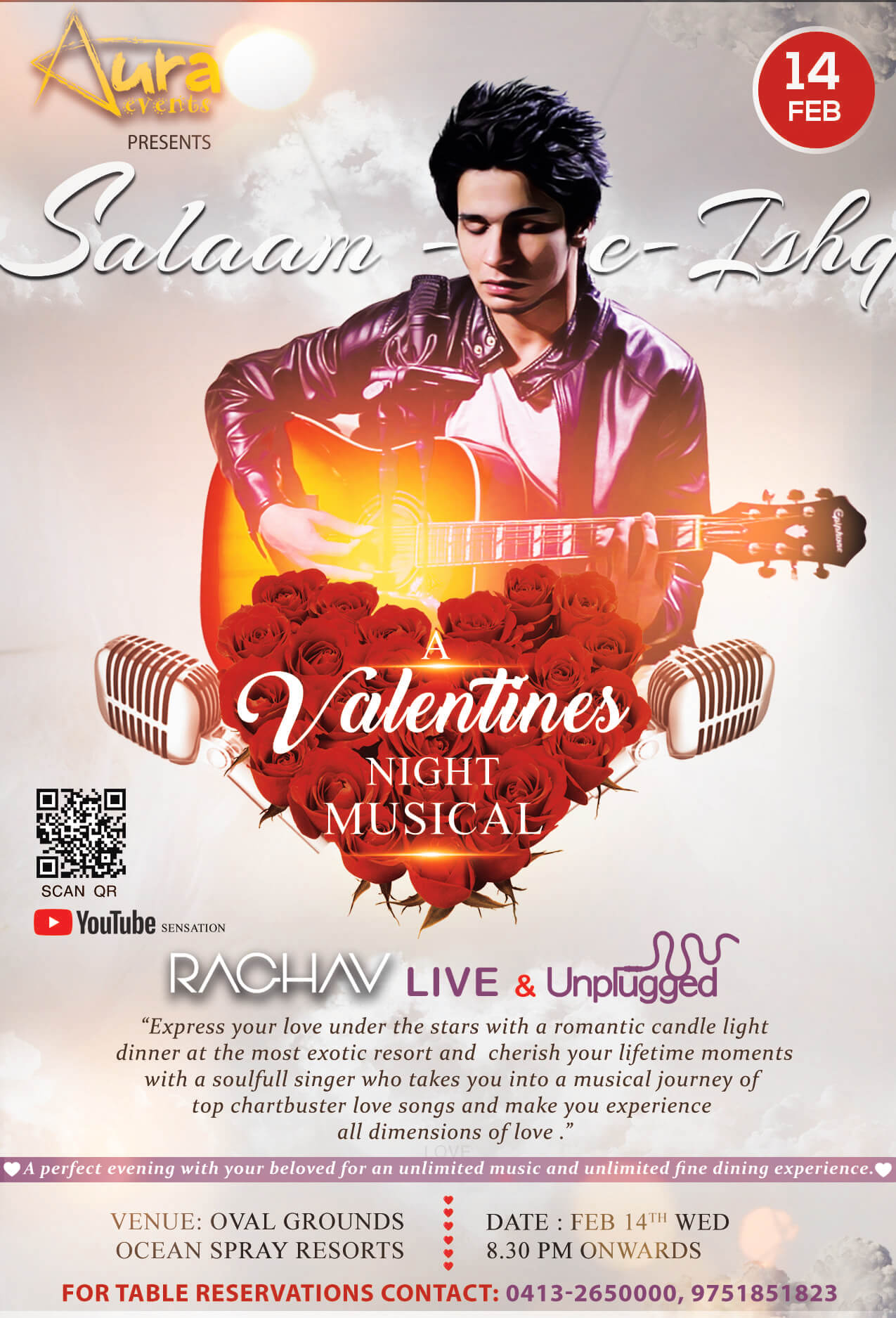 Valentines Night Musical - Ocean Spray Pondicherry